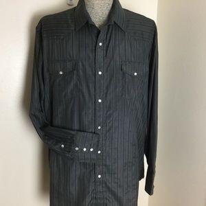 Roper Western Shirt Pearl Snaps Black XXL